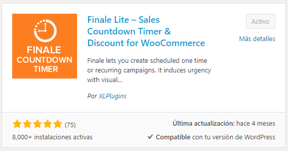 Finale Lite Sales Countdown timer